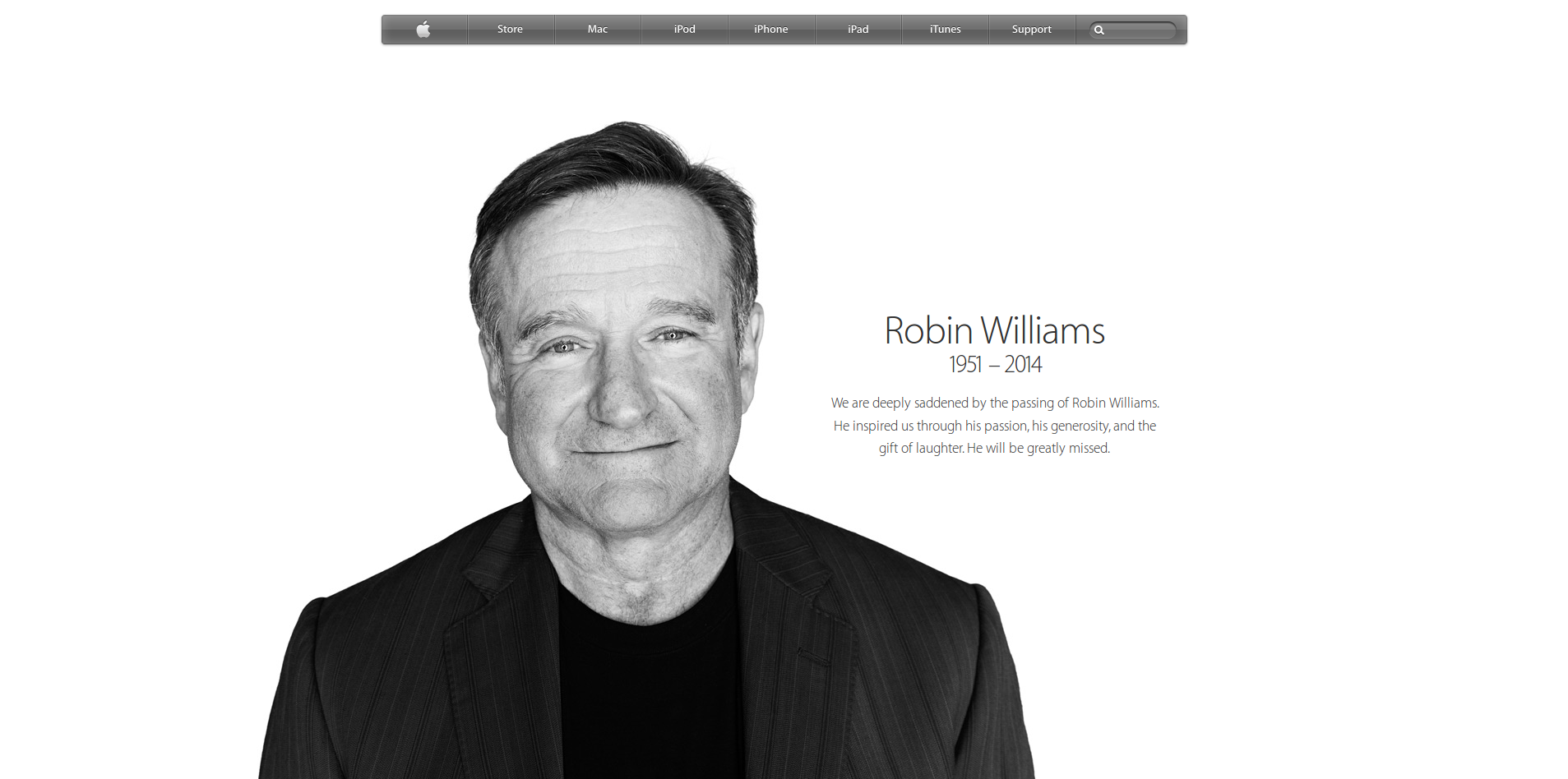 Apple - Remembering Robin Williams