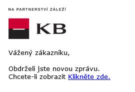Ukázka e-mailu - Komerční banka