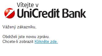 Ukázka e-mailu - UniCredit Bank