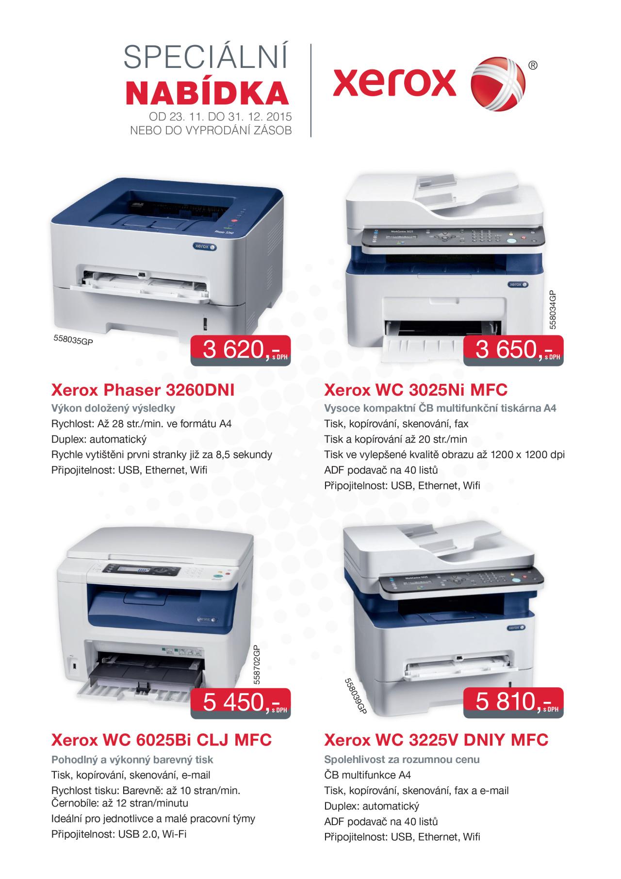 Tiskárny XEROX